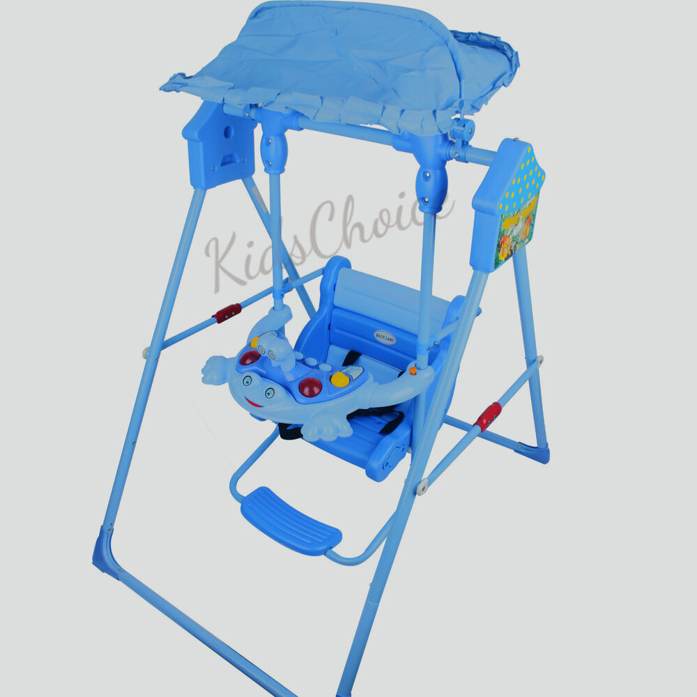 Baby Swing Rocker Rocking Chair Safe Seat Canopy Toddler Infant Indoor Outdoor | eBay