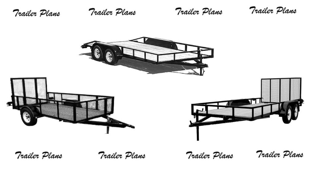 3 sets  trailer plans  8x18  7x14 tandem and 5x10 single
