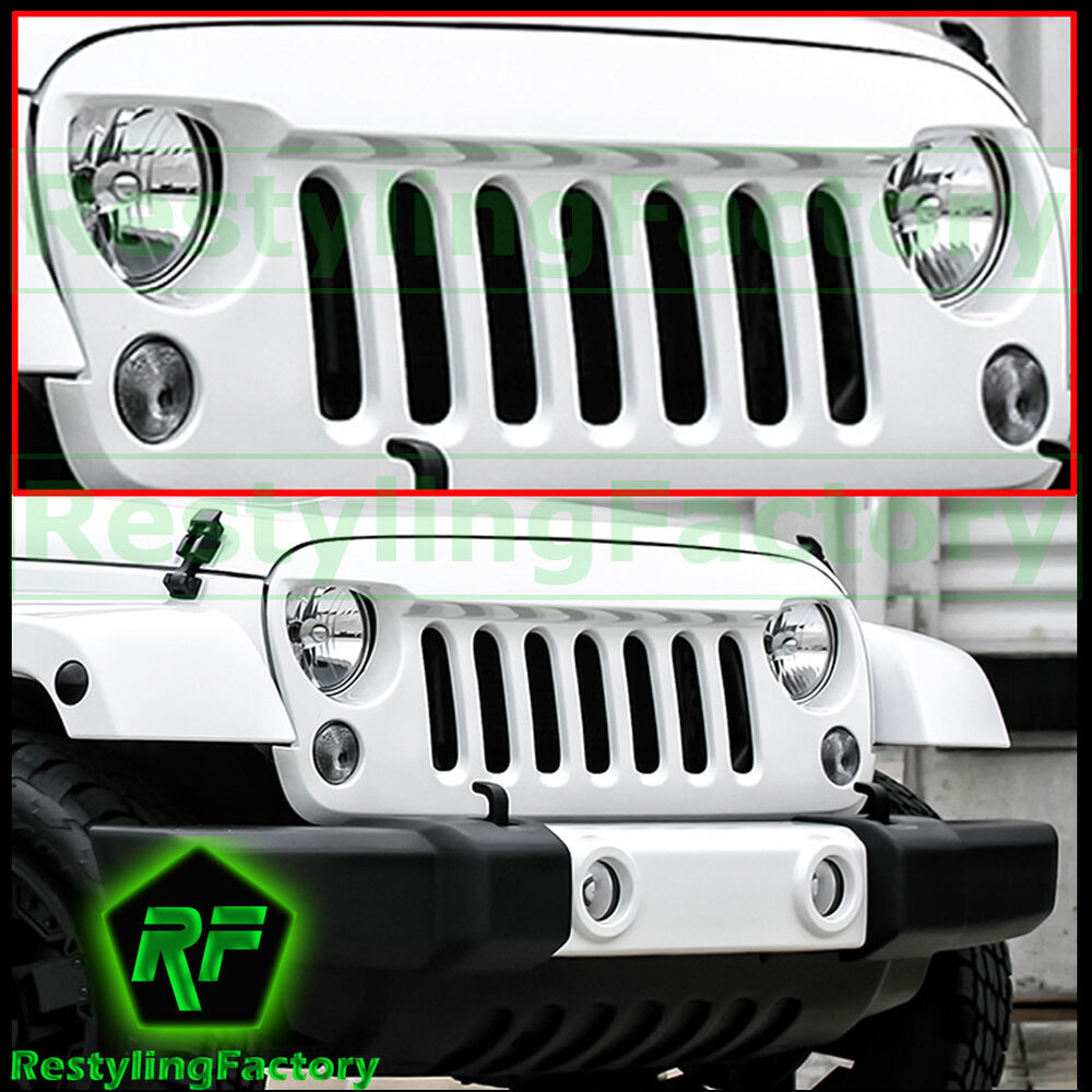 07 16 Jeep Jk Wrangler Front Hood Bright White Replacement
