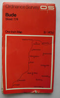 1966 old vintage OS Ordnance Survey one-inch Seventh Series map sheet 174 Bude