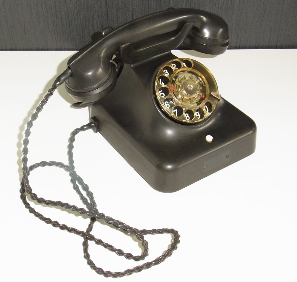 vintage bakelite retro telephone siemens black old phone ebay. Black Bedroom Furniture Sets. Home Design Ideas