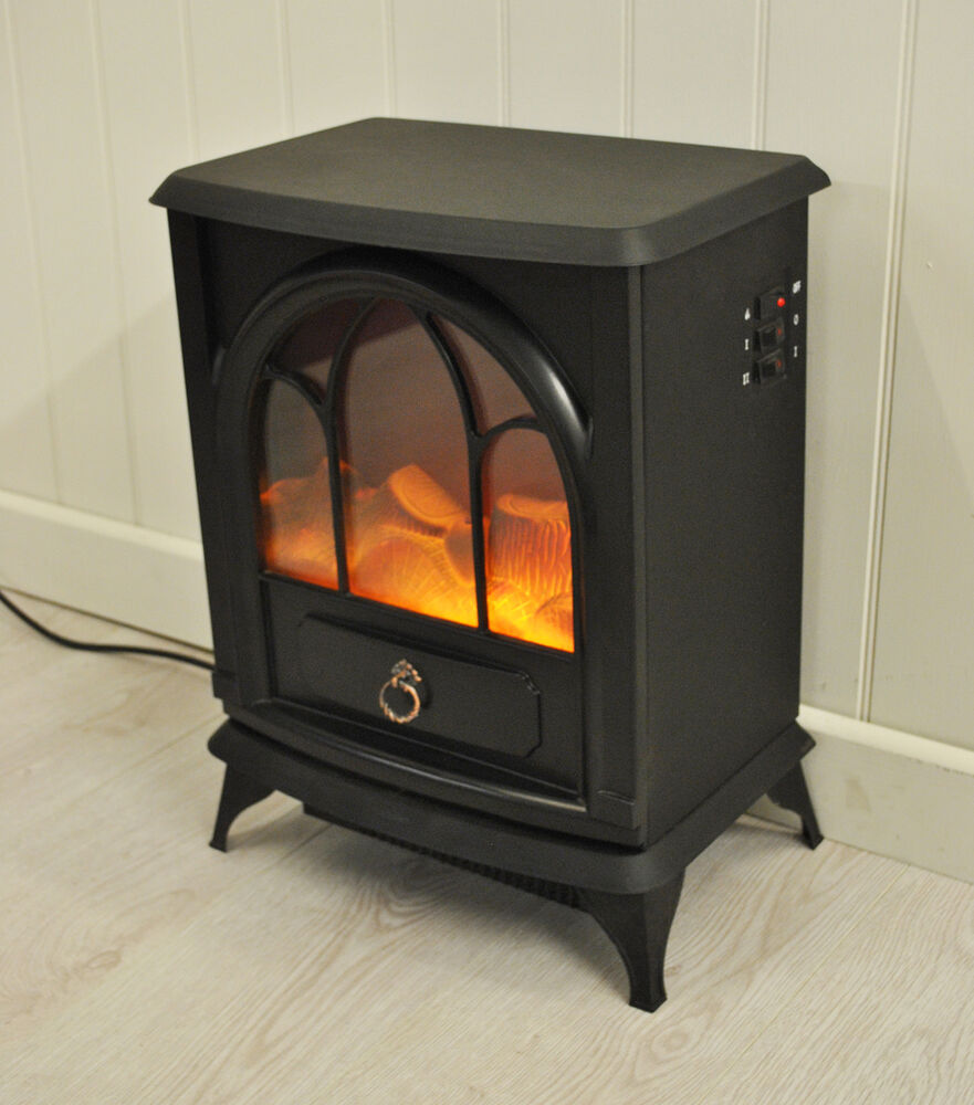 Electric Wood Stove ~ Kingfisher cast iron wood burner effect electric stove ebay