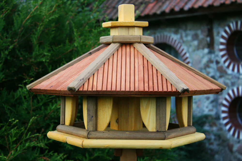 Deluxe Bird Table Feeder Feeding Station Wooden made in EU ...
