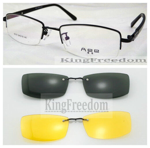 Eyeglass Frames Yellow : Eyeglass Frame With 2 Gray & Yellow Black sunglasses Clip ...