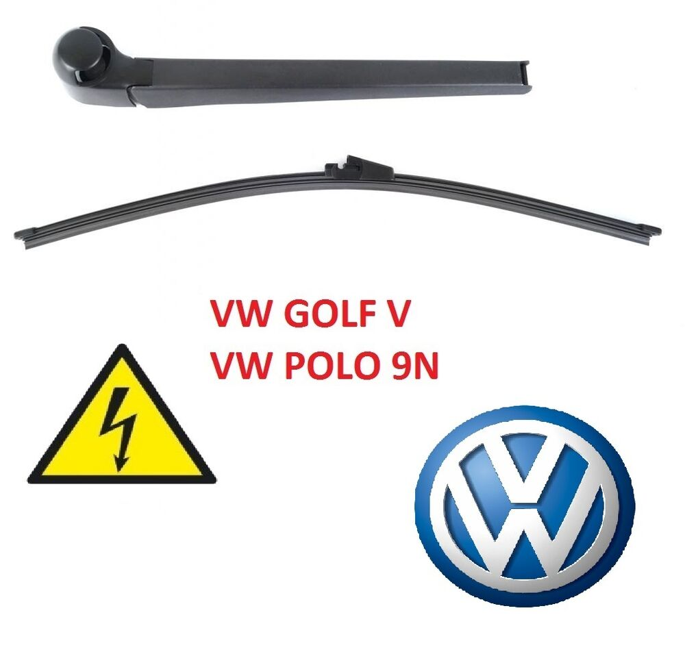 aero heck scheibenwischer arm set vw golf v 5 vw polo 9n. Black Bedroom Furniture Sets. Home Design Ideas