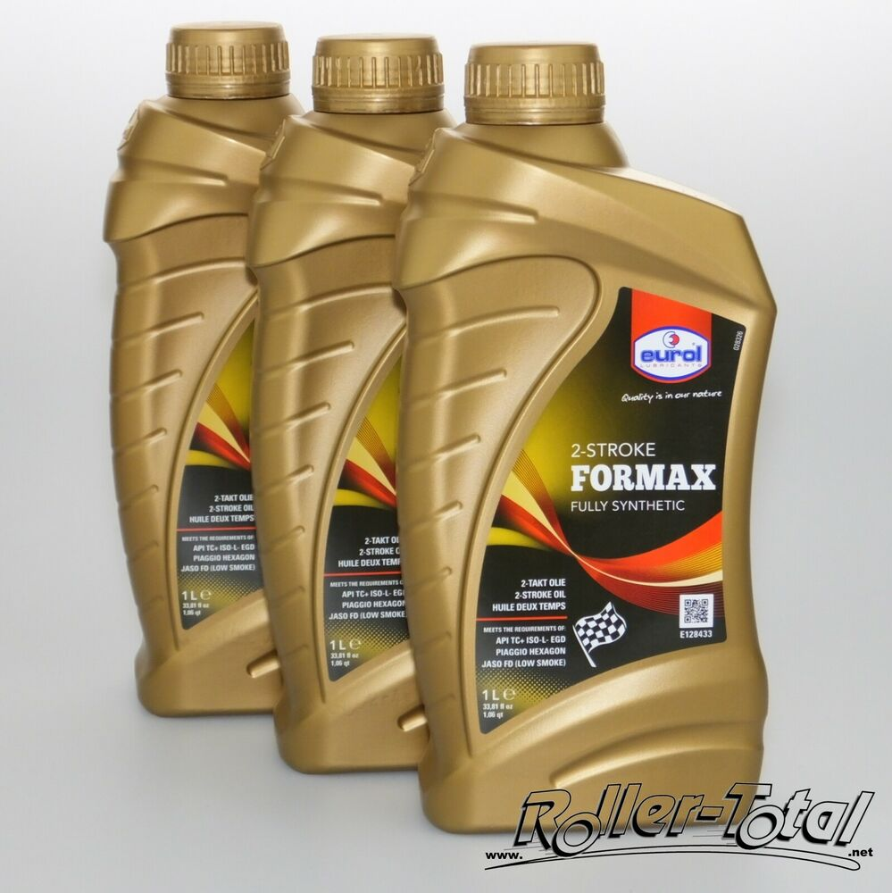 3 x 1liter eurol formax vollsynthetisches 2t l zwei 2 takt l 2 takt misch l oel ebay. Black Bedroom Furniture Sets. Home Design Ideas