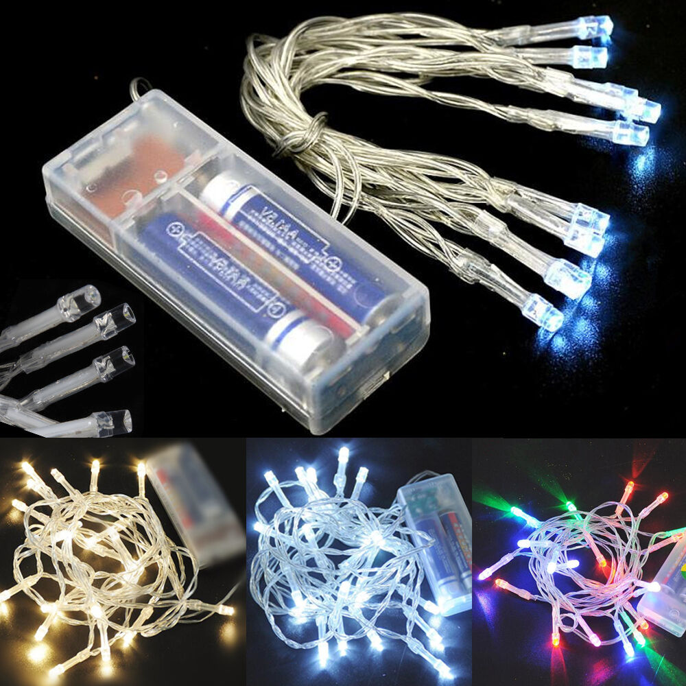 Led String Lights Indoor Battery : Battery Operated 10/20/30/40/50/80 LED String Fairy Lights Indoor/Outdoor Xmas eBay