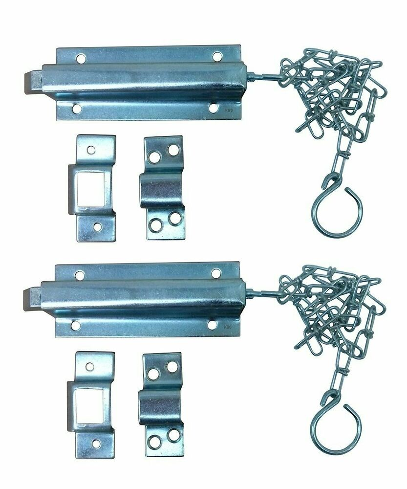 2 6 Quot Spring Loaded Chain Slide Bolt Latches Hardware