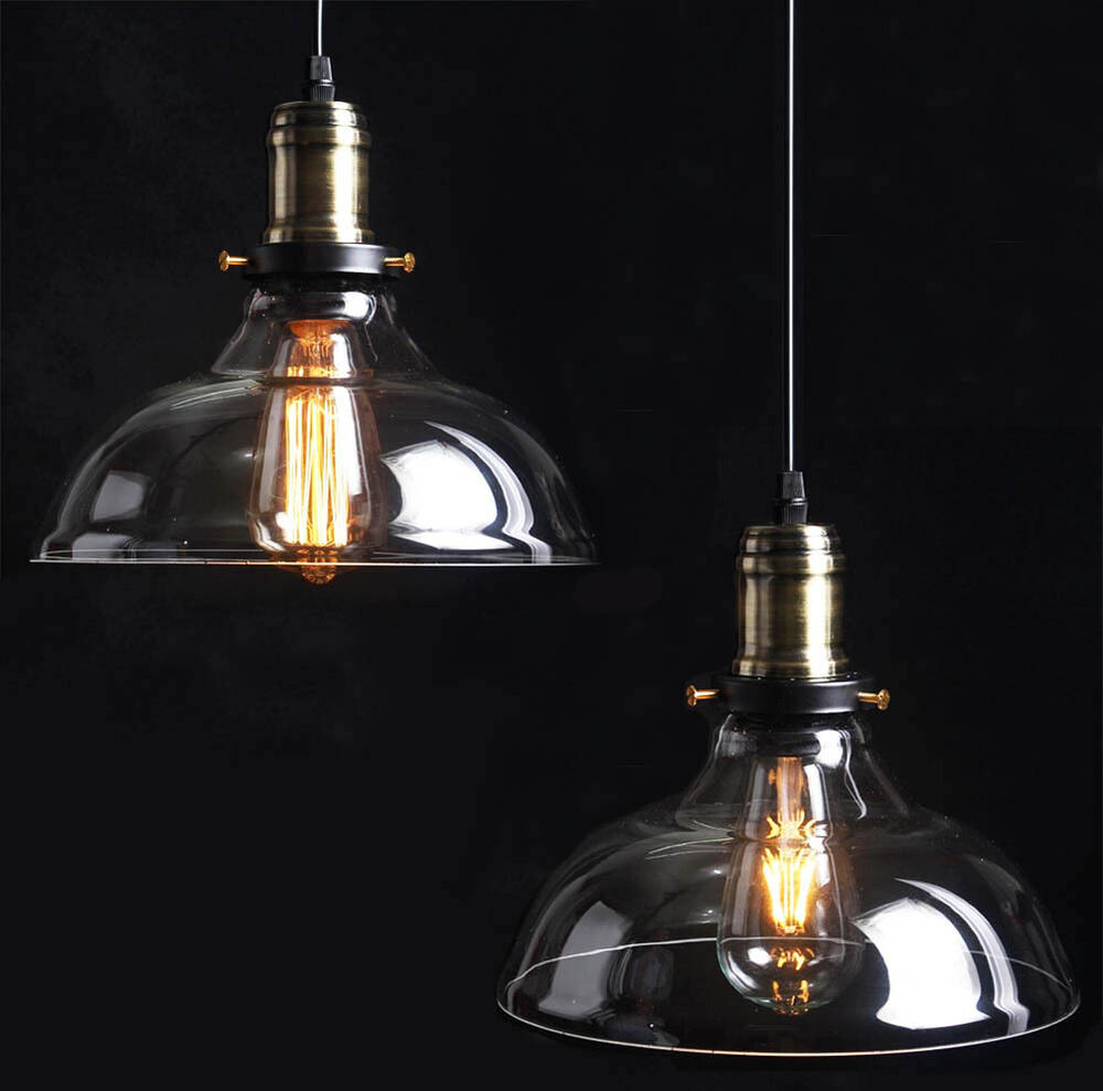 Country Vintage Retro Glass Ceiling Lamp Shade Pendant