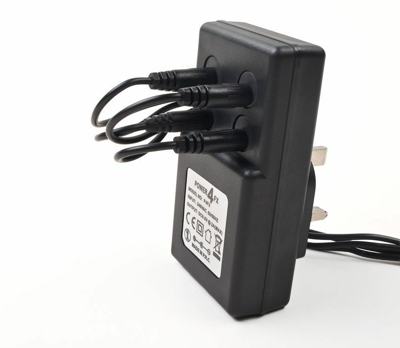 9v guitar pedal power supply adapter dc splitter cable for boss psa 240 psu ebay. Black Bedroom Furniture Sets. Home Design Ideas