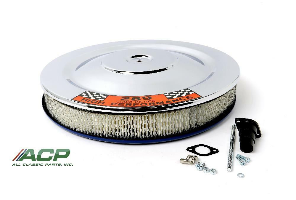 Ford Air Cleaner Assembly : Ford mustang chrome air cleaner assembly ebay