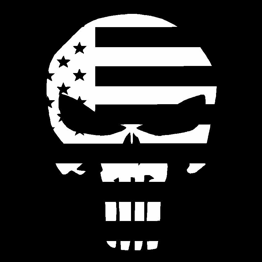 Punisher Skull Usa Flag Vinyl Decal Car Truck Die Cut