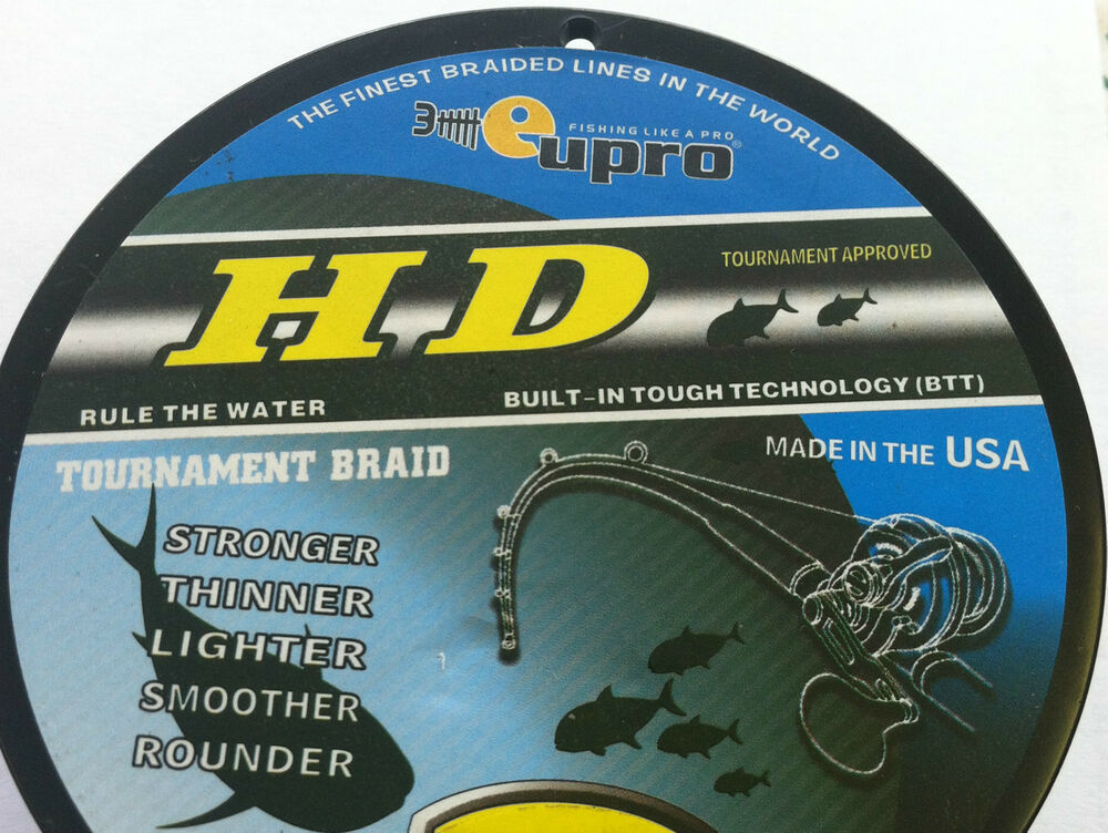 Eupro hd premium tournament braided line green bulk for Bulk braided fishing line