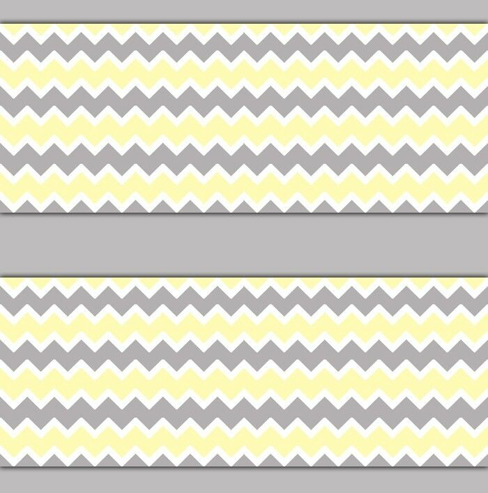 Yellow Gray Grey Chevron Wallpaper Border Wall Decal Boy