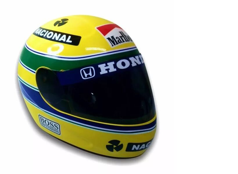 ayrton senna helmet 1 1 scale full size replica limited. Black Bedroom Furniture Sets. Home Design Ideas