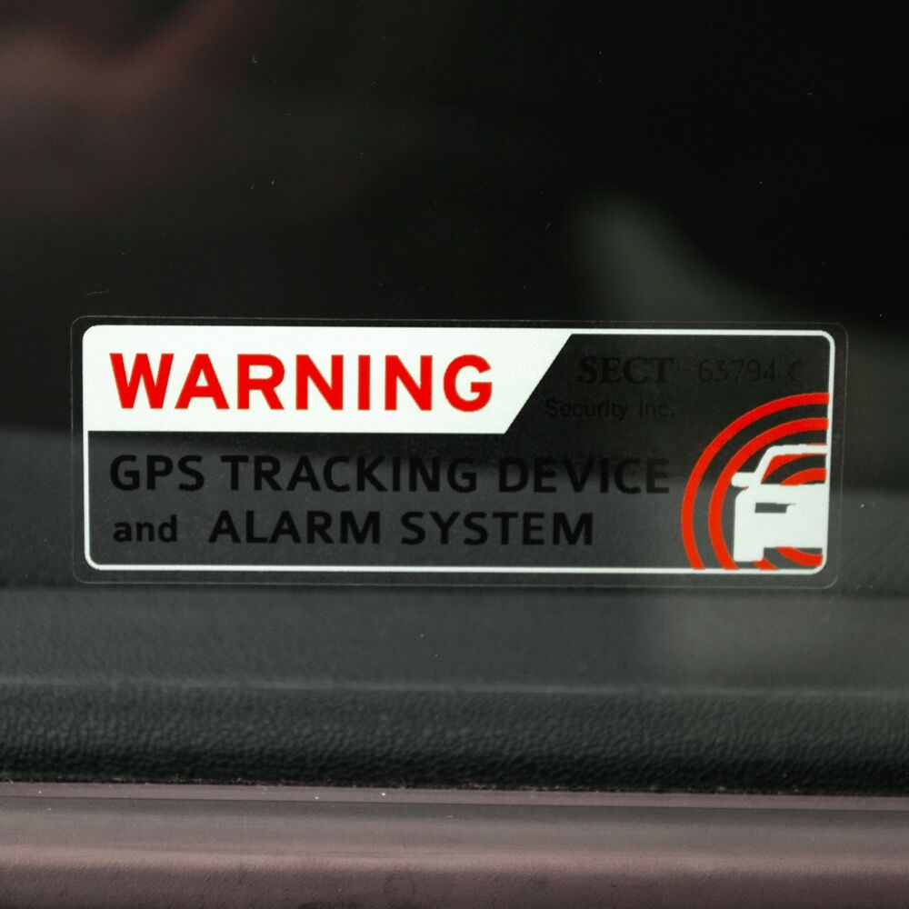4 security car alarm stickers truck rv bike antitheft gps tracking warning ebay. Black Bedroom Furniture Sets. Home Design Ideas