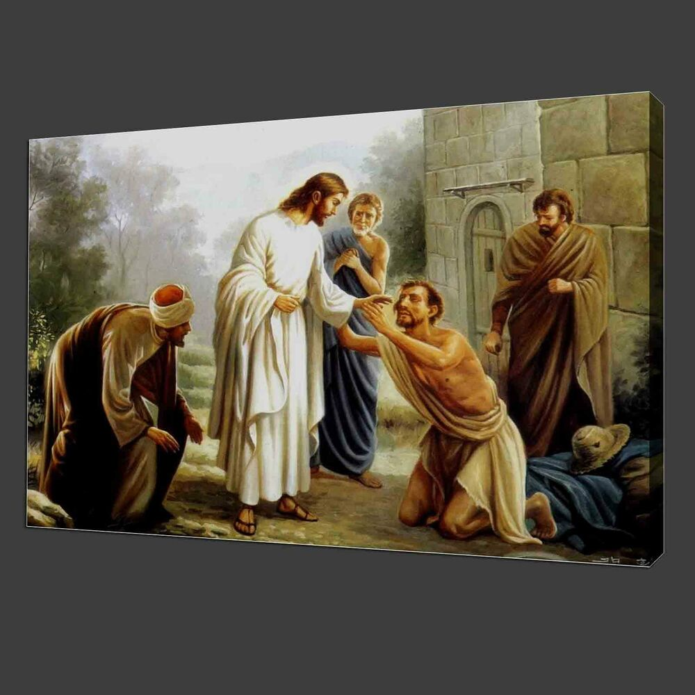 Home Interior Jesus: Not Frame 12x16'' Canvas Print Pictures Jesus Forgive