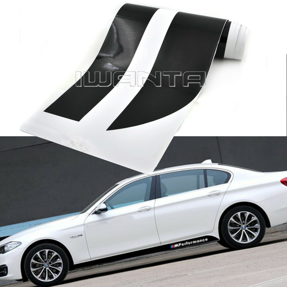 2x 2.05M M Performance Side Skirt Sticker Decal For BMW 3