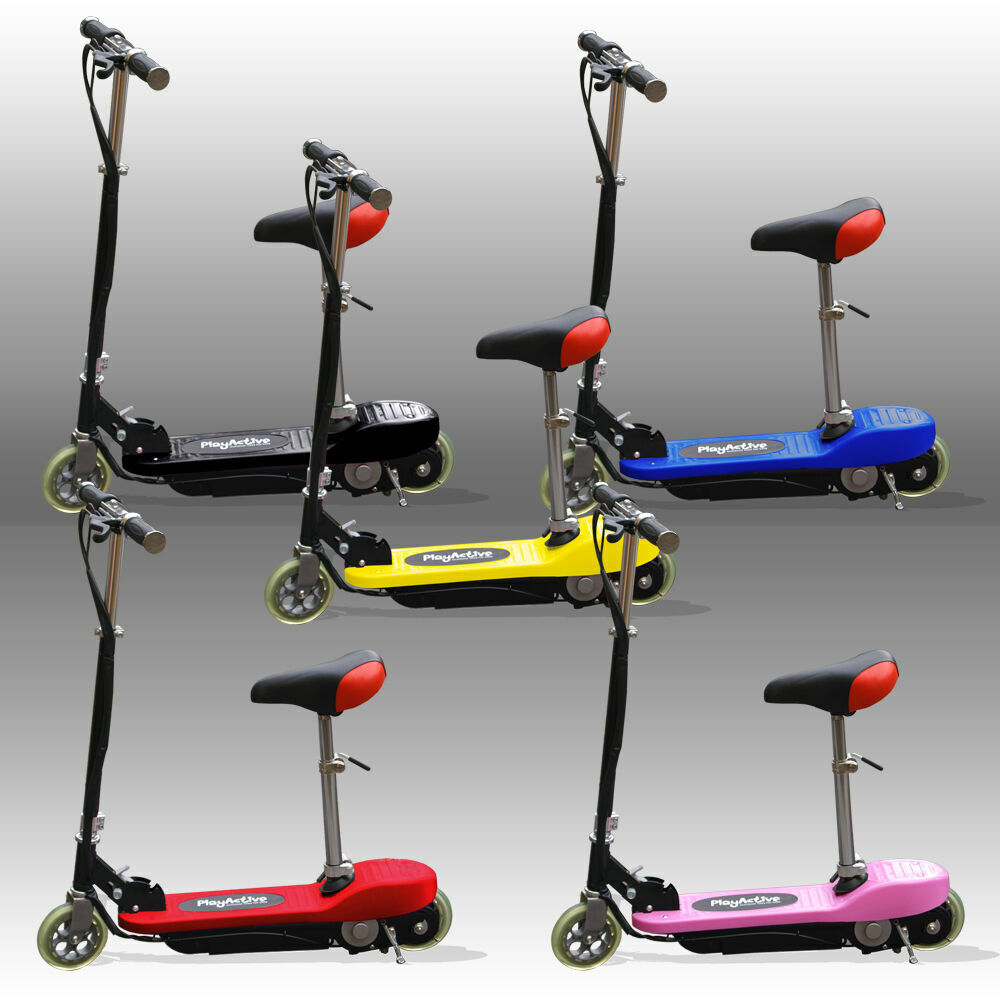 kids e scooters ride on electric 120w battery childrens scooter ebay. Black Bedroom Furniture Sets. Home Design Ideas