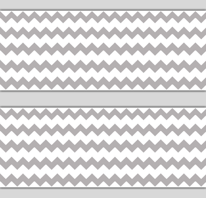 Pink And Grey Chevron Baby Room