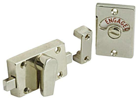 Toilet Bathroom Door Lock Indicator Bolt Polished Chrome