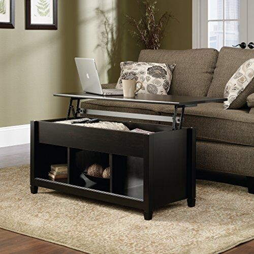 Lift Top Coffee Table Wood Hidden Storage Living Room Solid Laptop Desk Black Ebay