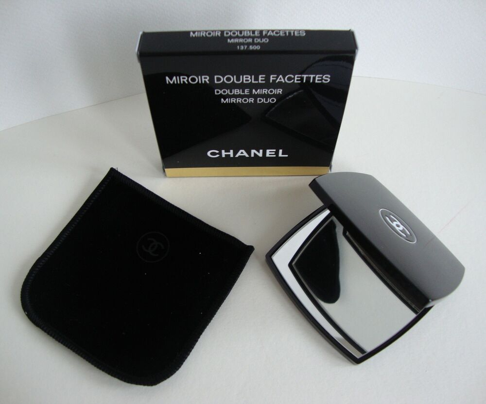 Chanel compact duo mirror bnib genuine ebay for Miroir double face