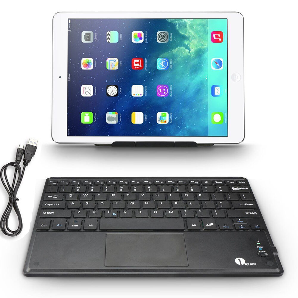 mini bluetooth wireless keyboard touchpad for mac ios android windows ebay. Black Bedroom Furniture Sets. Home Design Ideas