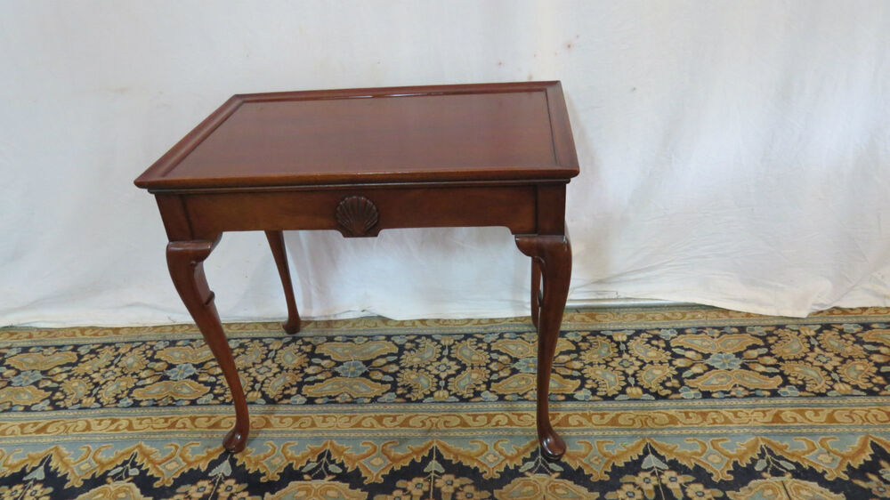 Hickory Chair Foyer Table : Hickory chair tea side table stand mahogany ebay
