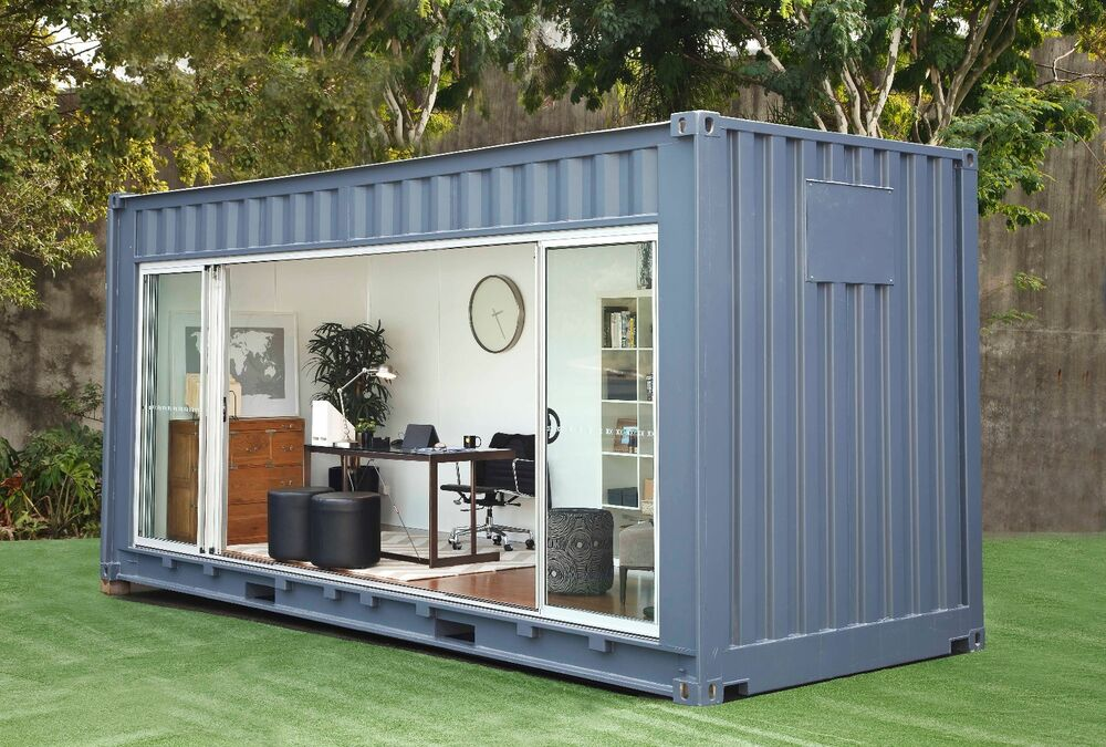 20ft custom shipping container cabin ebay. Black Bedroom Furniture Sets. Home Design Ideas