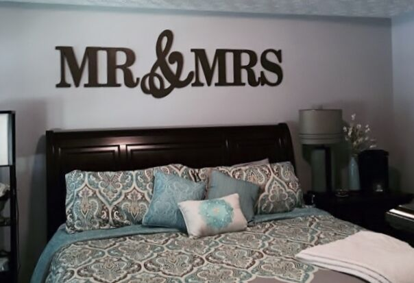 Mr And Mrs Large Wooden Letters: MR & MRS Wood Letters, Wall Décor-Painted Wood Letters