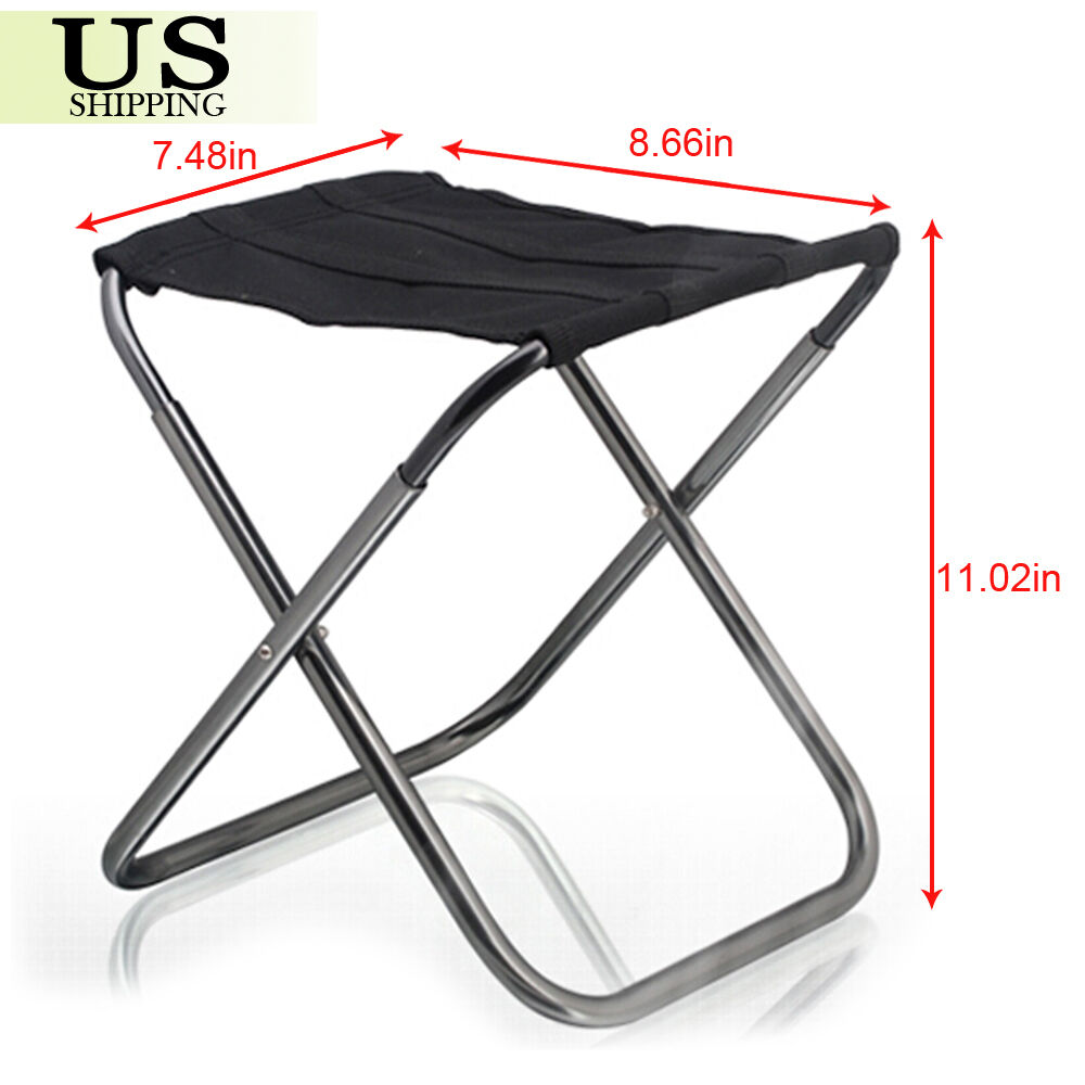 Portable Folding Aluminum Chair Outdoor Stool Seat Fishing