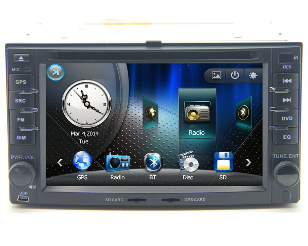 "6.2"" Touch Screen Radio Car DVD Player GPS Navigation For"