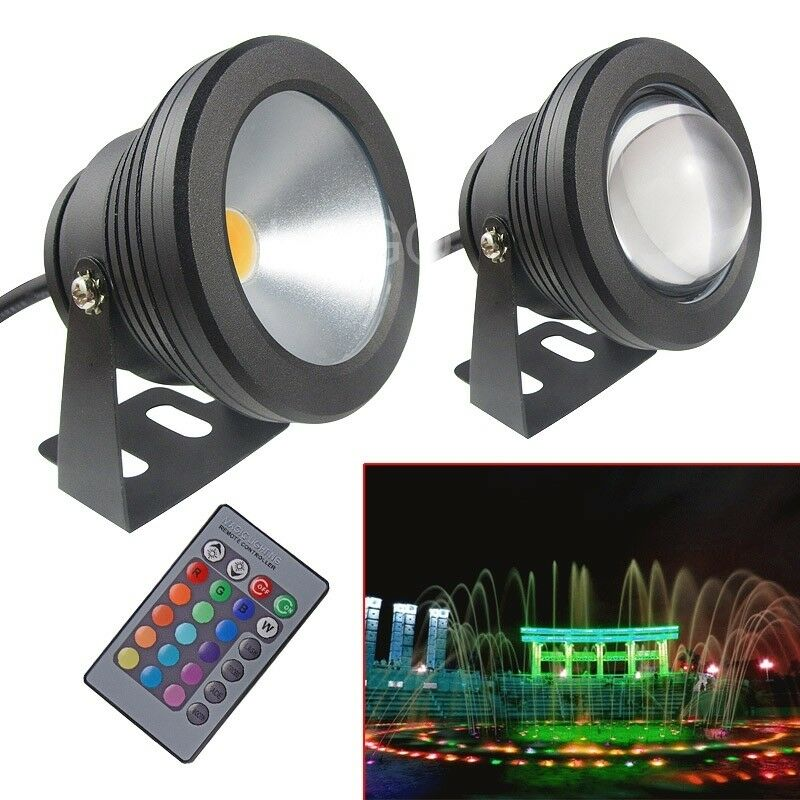 new 12v 10w underwater led flood pool waterproof light spot lamp outdoor 66 ebay. Black Bedroom Furniture Sets. Home Design Ideas
