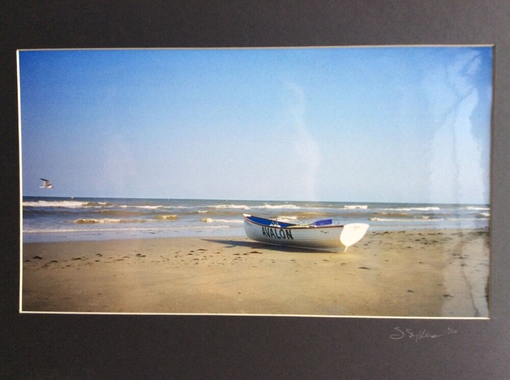 4c665398fe2 Avalon New Jersey Color Photo of Lifeguard Row Boat on the Beach original  print