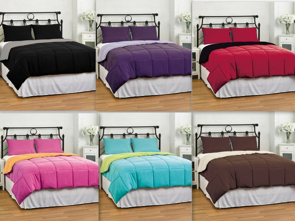 Abigail 3 Piece Reversible Comforter Set Solid Quilted