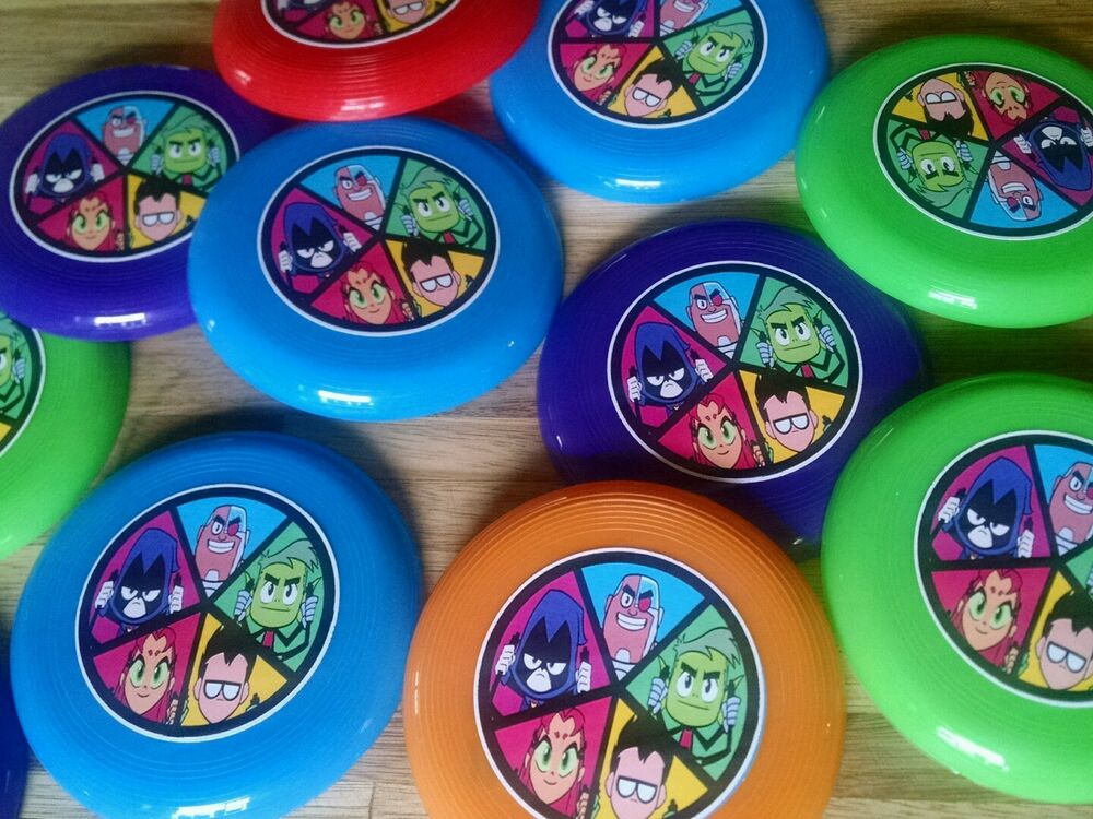 12 Teen Titans Go Mini Frisbees Birthday Party Favor -5220