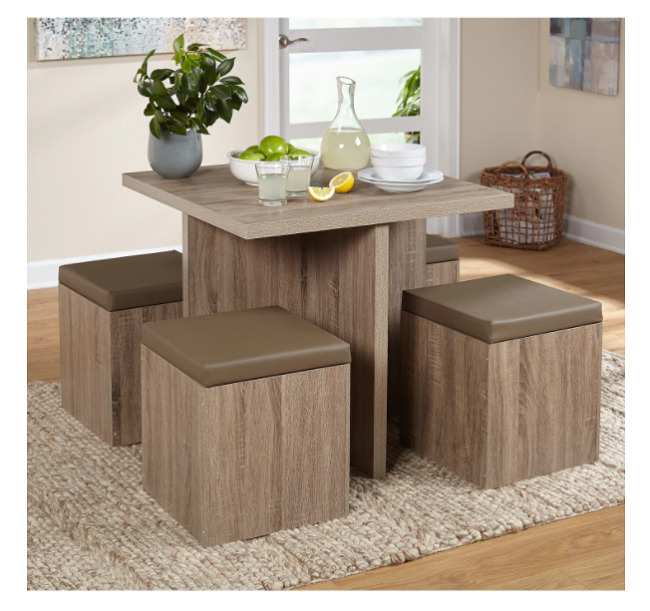 Kitchen Table And Chairs Compact Dining Set Studio Apartment Storage Ottomans Small Kitchen