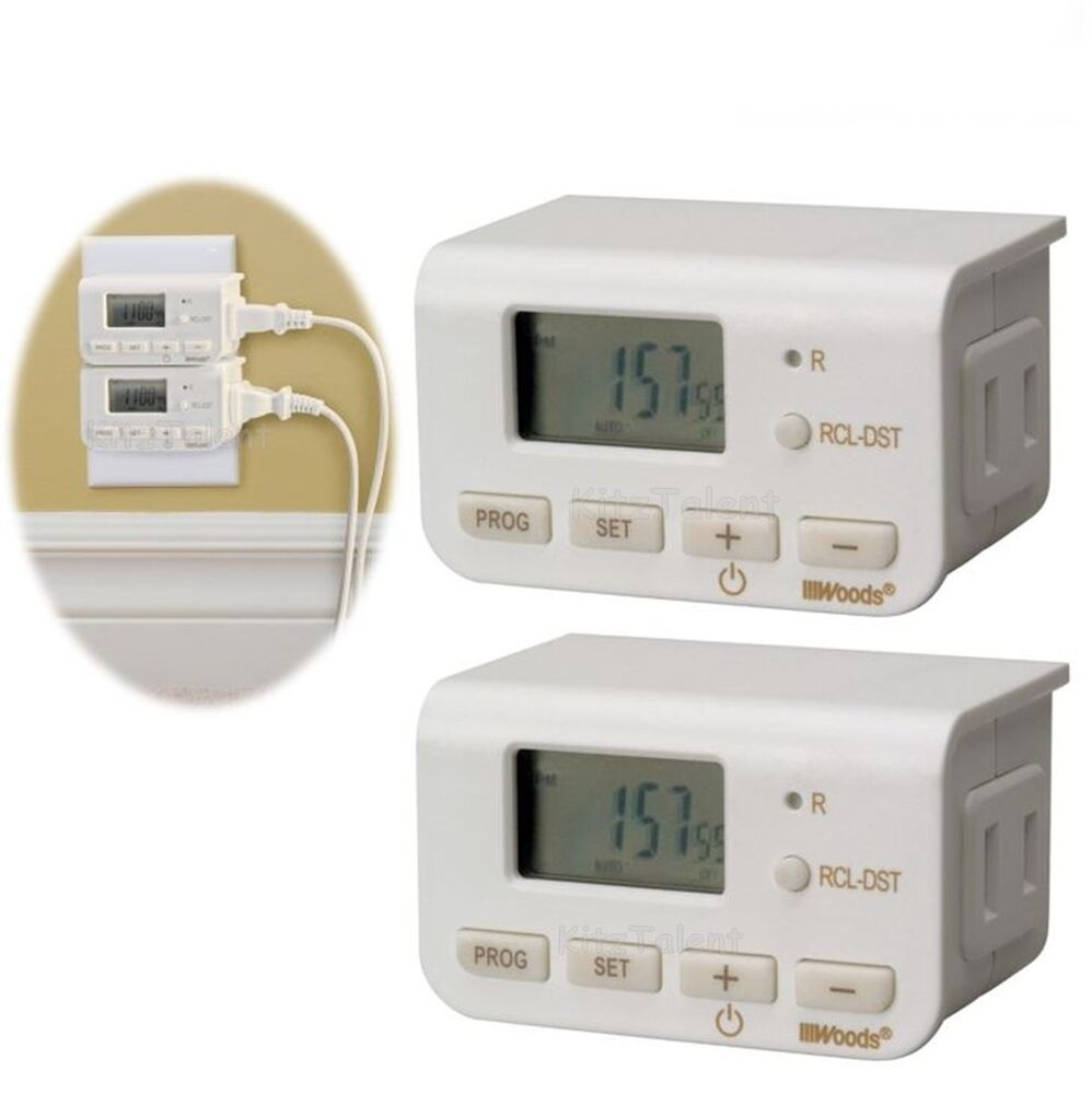 Digital Power Timer : Digital light lamp timer clock switch pack power saver