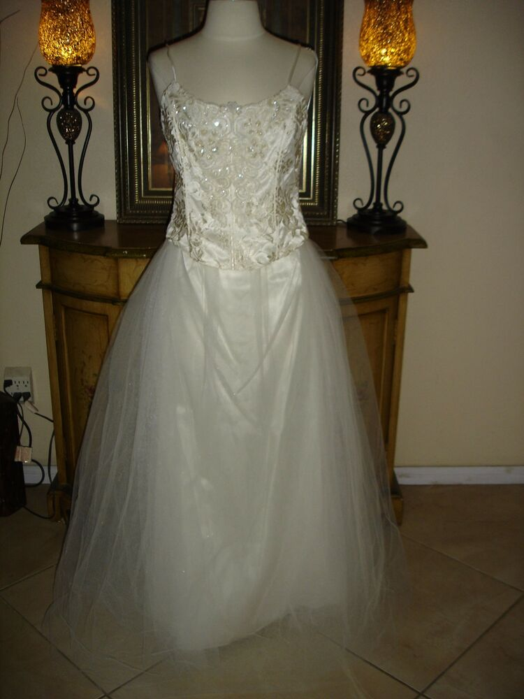 2 pc jessica mcclintock white wedding dress strapless low for Jessica mcclintock wedding dresses outlet