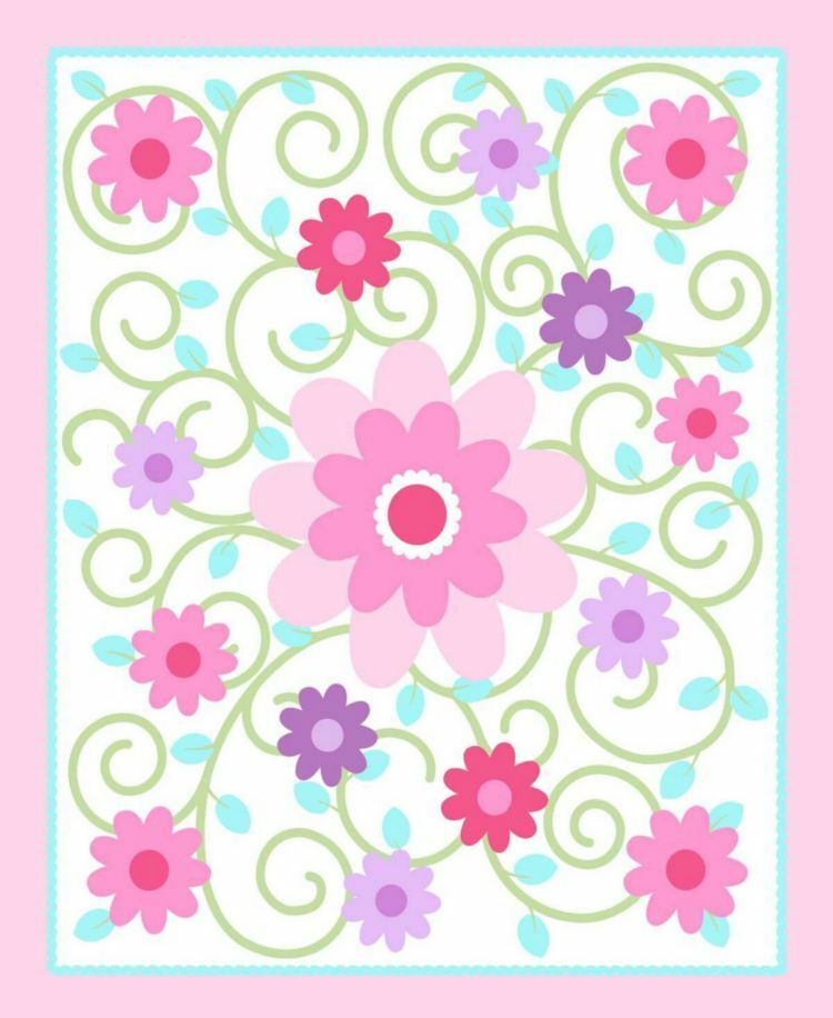 Dilly dally nursery swirlicious pink 100 cotton 43 for Pink nursery fabric