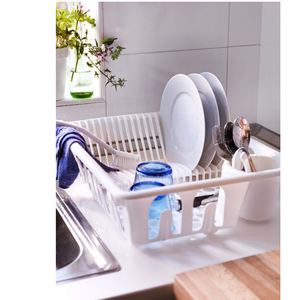 New Ikea Plastic Dish Rack Drainer Sink Cutlery Drying