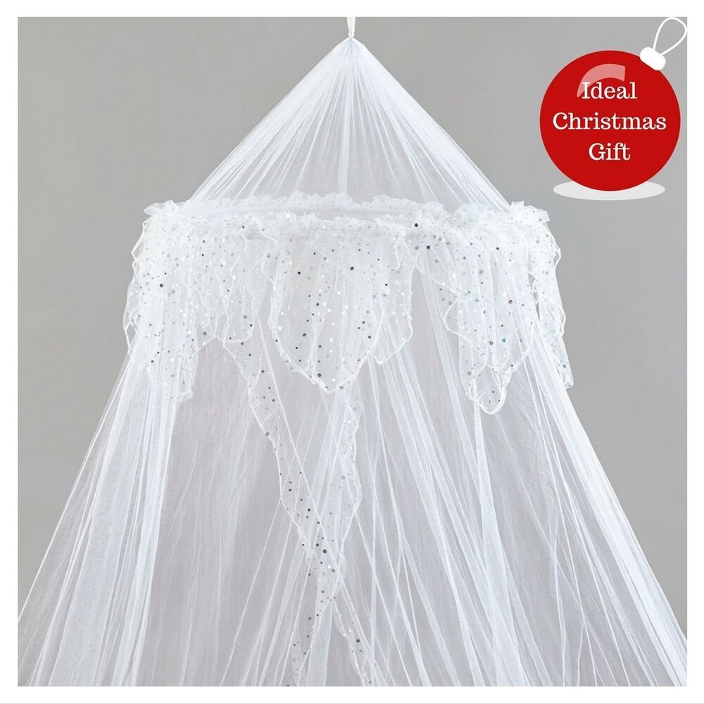 Large White Bed Canopy Protection Decoration Mosquito Net