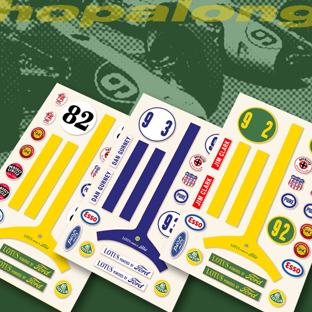Details about scalextric slot car lotus ford sticker decals