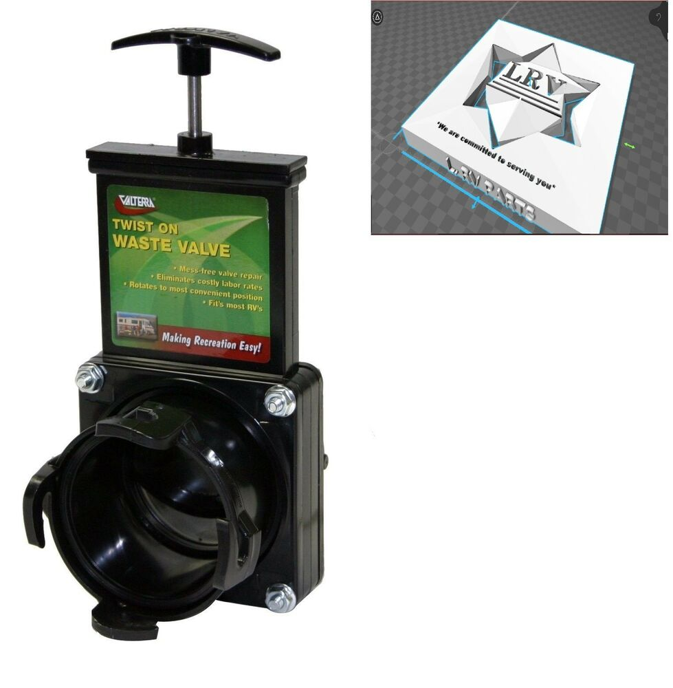 3 Quot Sewer Waste Valve For Rv Motorhome Campers Twist On