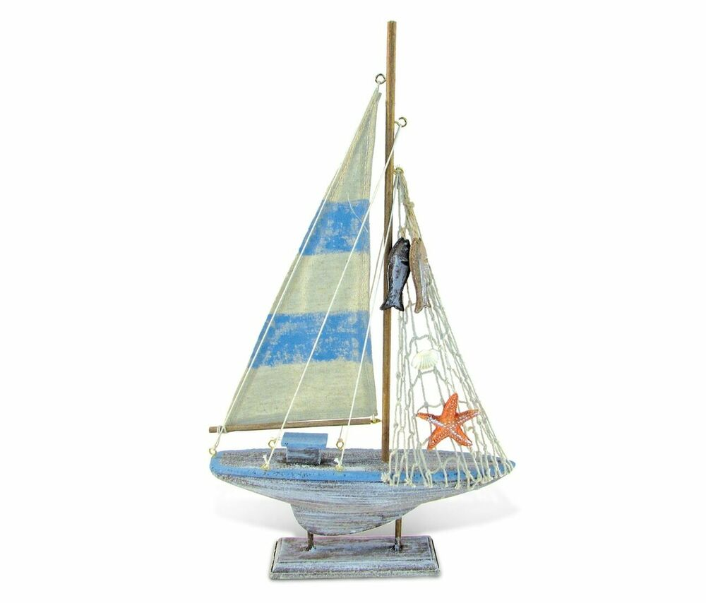 Nautical d cor pacific calypso sailboat ebay for Decoration yacht