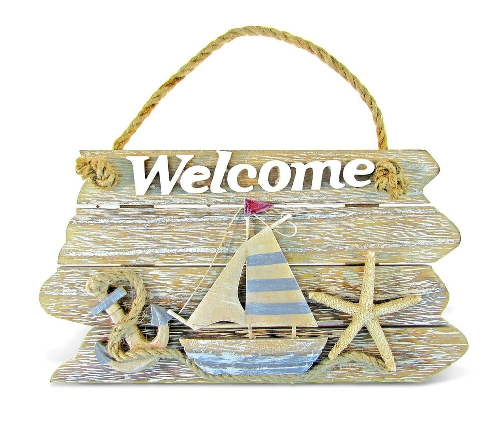 nautical home decor gifts nautical d 233 cor vintage welcome sign ebay 11674