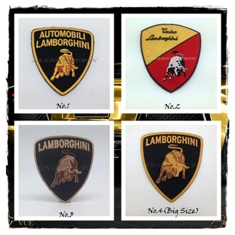 New LAMBORGHINI Iron Sew On Patch Embroidered Racing Motor