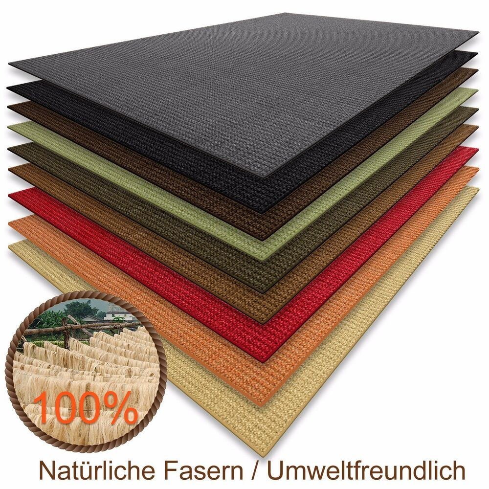 floordirekt 100 reines sisal teppich in verschiedenen farben 100 x 100 cm ebay. Black Bedroom Furniture Sets. Home Design Ideas
