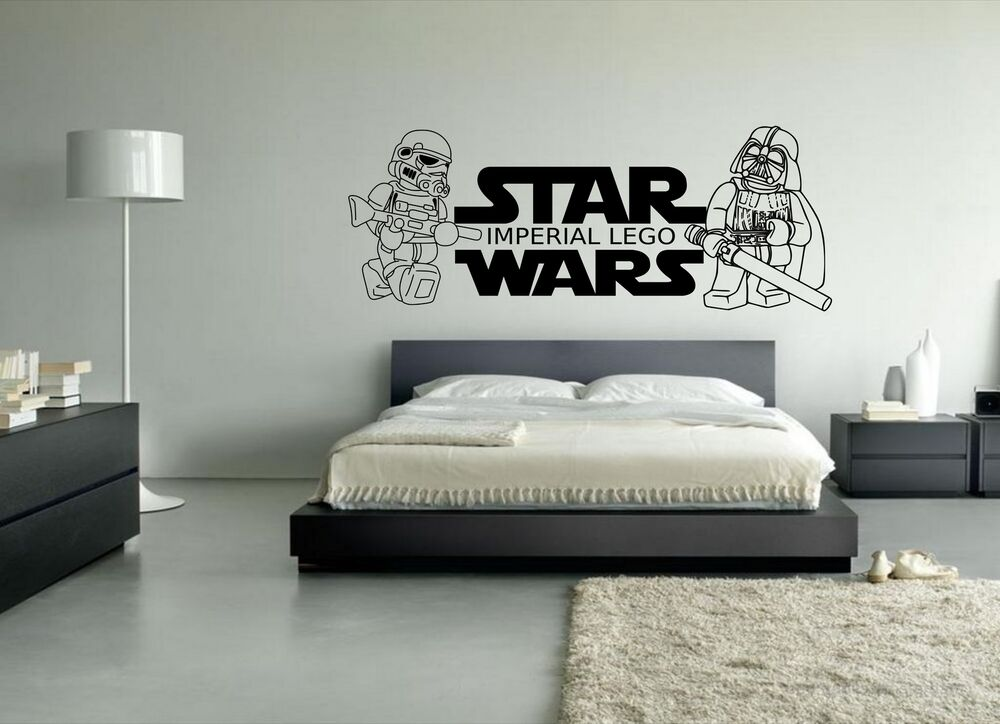Star wars lego imperial personalised wall art decal for Boys wall art